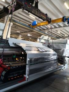 Installazione del nuovo macchinario in Giulipas.